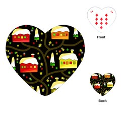 Winter  night  Playing Cards (Heart)