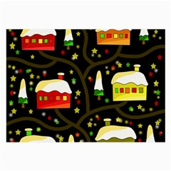 Winter  night  Large Glasses Cloth (2-Side)