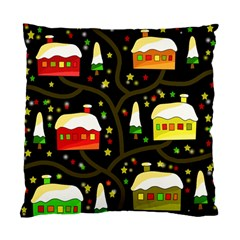 Winter  night  Standard Cushion Case (One Side)