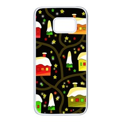Winter  night  Samsung Galaxy S7 White Seamless Case