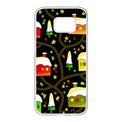 Winter  night  Samsung Galaxy S7 edge White Seamless Case