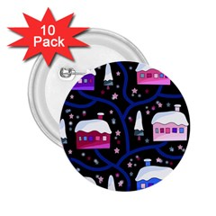 Magical Xmas night 2.25  Buttons (10 pack)