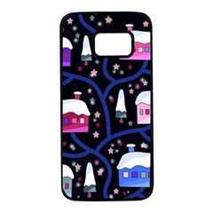 Magical Xmas Night Samsung Galaxy S7 Black Seamless Case