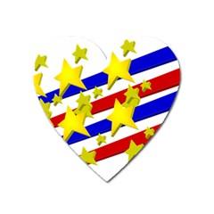 Flag Ransparent Cartoon American Heart Magnet