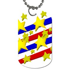 Flag Ransparent Cartoon American Dog Tag (one Side)