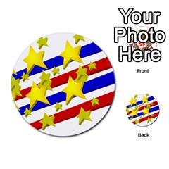 Flag Ransparent Cartoon American Multi Purpose Cards (round)