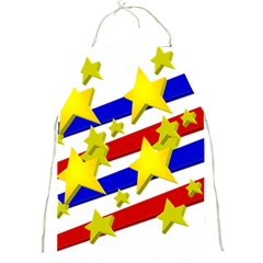 Flag Ransparent Cartoon American Full Print Aprons