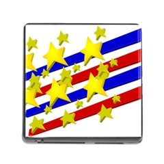 Flag Ransparent Cartoon American Memory Card Reader (square)