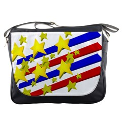 Flag Ransparent Cartoon American Messenger Bags