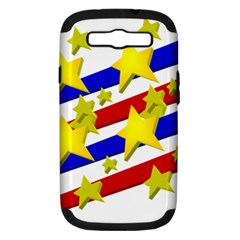 Flag Ransparent Cartoon American Samsung Galaxy S Iii Hardshell Case (pc+silicone)