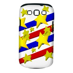Flag Ransparent Cartoon American Samsung Galaxy S Iii Classic Hardshell Case (pc+silicone)