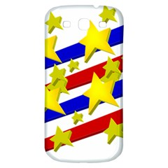 Flag Ransparent Cartoon American Samsung Galaxy S3 S Iii Classic Hardshell Back Case