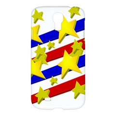 Flag Ransparent Cartoon American Samsung Galaxy S4 I9500/i9505 Hardshell Case