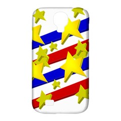 Flag Ransparent Cartoon American Samsung Galaxy S4 Classic Hardshell Case (pc+silicone)