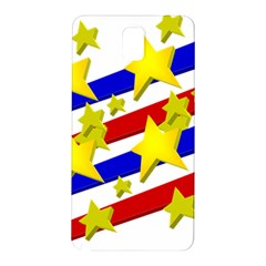 Flag Ransparent Cartoon American Samsung Galaxy Note 3 N9005 Hardshell Back Case