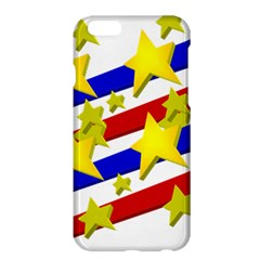 Flag Ransparent Cartoon American Apple Iphone 6 Plus/6s Plus Hardshell Case