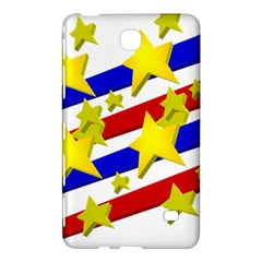 Flag Ransparent Cartoon American Samsung Galaxy Tab 4 (8 ) Hardshell Case