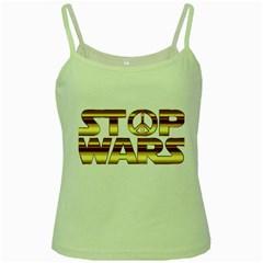 Stop Wars Green Spaghetti Tank