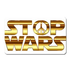 Stop Wars Magnet (rectangular)