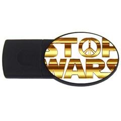 Stop Wars Usb Flash Drive Oval (4 Gb)