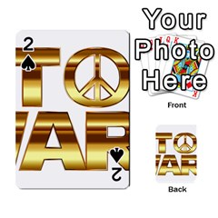 Stop Wars Playing Cards 54 Designs