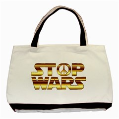 Stop Wars Basic Tote Bag