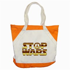 Stop Wars Accent Tote Bag