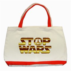 Stop Wars Classic Tote Bag (red)