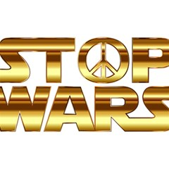 Stop Wars Birthday Cake 3d Greeting Card (7x5)