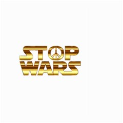 Stop Wars Large Garden Flag (two Sides)
