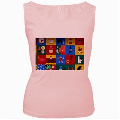 The Oxford Dictionary Illustrated Women s Pink Tank Top
