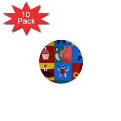 The Oxford Dictionary Illustrated 1  Mini Buttons (10 Pack)