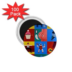 The Oxford Dictionary Illustrated 1 75  Magnets (100 Pack)