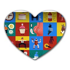 The Oxford Dictionary Illustrated Heart Mousepads