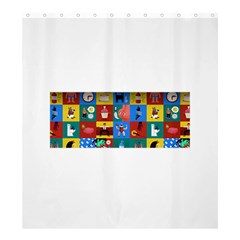 The Oxford Dictionary Illustrated Shower Curtain 66  X 72  (large)