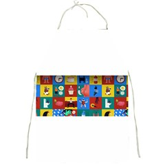 The Oxford Dictionary Illustrated Full Print Aprons