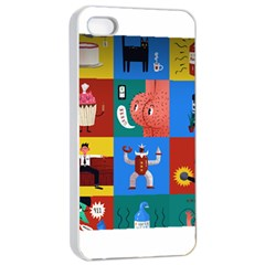 The Oxford Dictionary Illustrated Apple Iphone 4/4s Seamless Case (white)