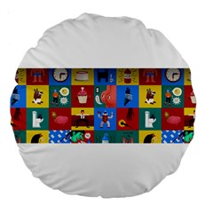 The Oxford Dictionary Illustrated Large 18  Premium Flano Round Cushions