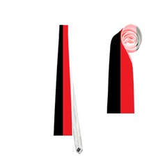 Black Red Splitting Typography Neckties (two Side)
