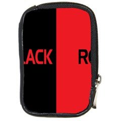 Black Red Splitting Typography Compact Camera Cases