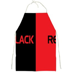 Black Red Splitting Typography Full Print Aprons