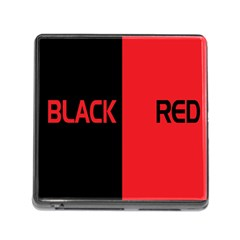 Black Red Splitting Typography Memory Card Reader (square)