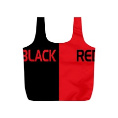 Black Red Splitting Typography Full Print Recycle Bags (s)