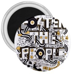 Foster The People Creative Typography 3  Magnets