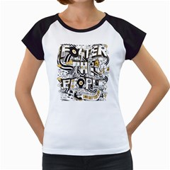 Foster The People Creative Typography Women s Cap Sleeve T