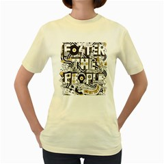 Foster The People Creative Typography Women s Yellow T Shirt