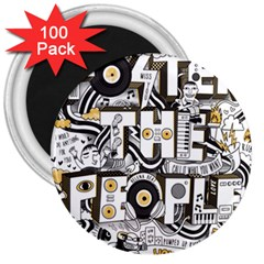 Foster The People Creative Typography 3  Magnets (100 Pack)