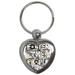 Foster The People Creative Typography Key Chains (heart)