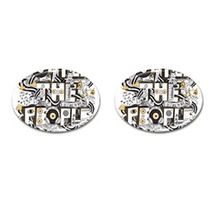 Foster The People Creative Typography Cufflinks (oval)