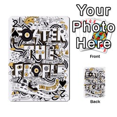 Foster The People Creative Typography Playing Cards 54 Designs